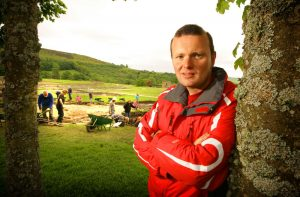 Visit to Vindolanda – tour led by Andrew Birley, Director of Excavations