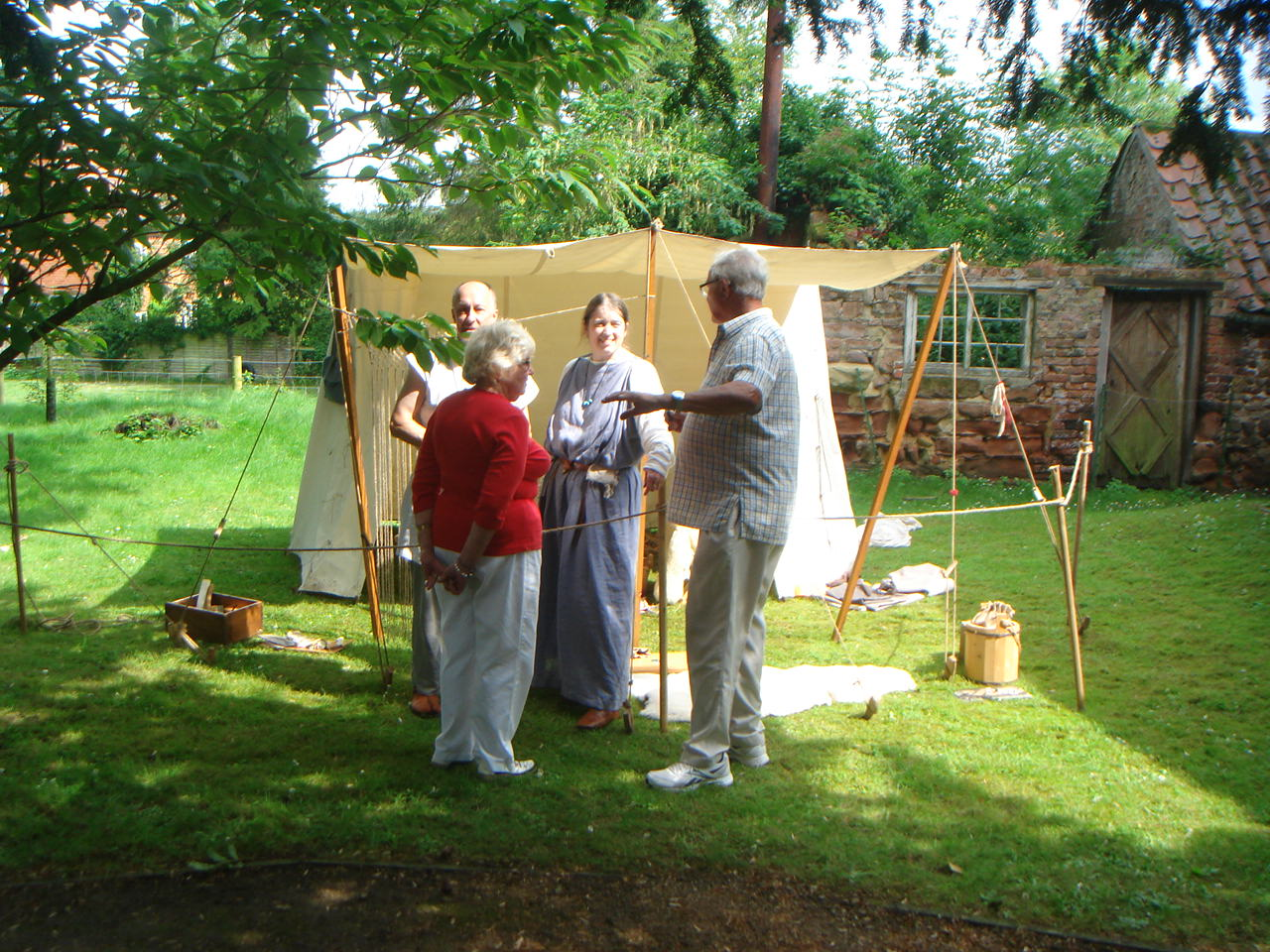 Open Day re-enactors